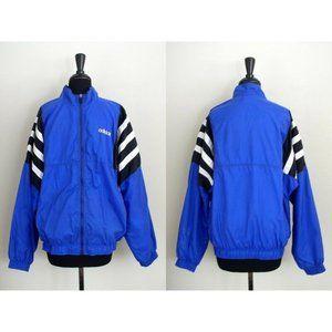 Vintage 90s Men's Adidas Triple Stripe Windbreaker